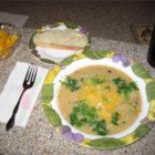 Potato Soup IX - A delicious soup that makes a meal with some nice fresh bread! Homey and comforting! Try adding shredded Cheddar cheese just before serving.