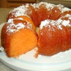 Orange Juice Cake - This cake is similar to a rum cake, but you substitute orange juice for rum.