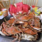 Steamed Blue Crabs - Here is a classic method for steaming delicious Atlantic blue crabs. Serve on big pieces of newspaper to make cleanup a breeze.