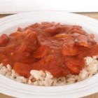 Portuguese Chourico, Beans, and Rice - This warm and satisfying dish delivers the flavors of Portugal with the use of fava beans with dried chourico sausage.