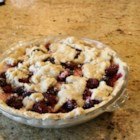 Blackberry Pie II - We 'd like blackberry pie for breakfast, lunch and dinner. It 's so good, and the tapioca flour in this one makes the blackberries thick and luscious. The cinnamon adds a bit of spice, and the milk and sugar brushed on the top curst makes the pie sparkle when it 's pulled from the oven.
