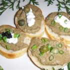 Jo's Chicken Liver Pate - Rosemary, thyme, capers and white wine reduction flavor this chicken liver pate.