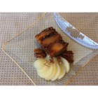 Gingerbread Pear Cake - Gingerbread and pears are combined in a beautiful and tasty upside down cake that is a delightful blend of fruit and spice.