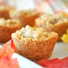 Apple Crisp Cups - Little mini-apple crisps baked in buttery sweet oat cups make yummy one-bite treats.