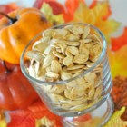 Toasted Pumpkin Seeds - Pumpkin seeds that are crunchy and full of fall flavor. Very popular.