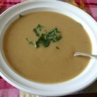 Apple and Pear Soup - This delicious vegetarian soup with apples, pears, and fresh ginger is great for cold fall days.