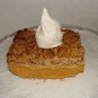 Pumpkin Pie Cake I - Almost like a pumpkin pie cobbler. Rich and yummy. Try it warm from the oven with a scoop of vanilla ice cream.