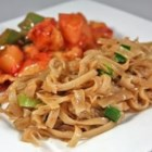 Quick Chinese-Style Vermicelli (Rice Noodles) - Quick-cooking rice noodles get dressed up in a soy- and chile-sauce glaze. Garnish with chopped green onions.