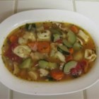Chicken Tortellini Soup With Zucchini and Tomatoes - Beginning with my Fast Chicken Soup Base it is easy to knock hours off of the cooking time usually needed for homemade chicken soup and still end up with soup that tastes even better than the 'from scratch' method. With a little creativity you can easily make two varieties of these soul-satisfying meals.