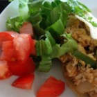 Easy Chicken Taco Filling - Chicken breast sauteed with onion and green bell pepper for a great basic taco filling.