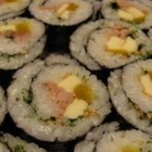 Korean Sushi - This is a Korean-inspired version of sushi that uses minced beef and canned tuna instead of raw fish. It's mouthwateringly delicious, but may take some practice.