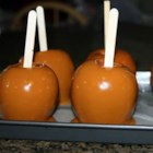 Plain Caramel Apples - A classic caramel apple recipe perfect for Fall entertaining. Using caramel candies makes this recipe a breeze.