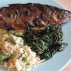 Trout with Fiddlehead Ferns - Celebrate the spring season with fresh trout stuffed with a savory fiddlehead stuffing. A simple recipe that is simply delicious.