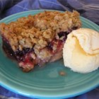 Apple Crisp with Cranberry Sauce - I devised this recipe when I was trying to use up that leftover homemade cranberry sauce from Thanksgiving!  You could probably also use canned whole cranberry sauce for this recipe.