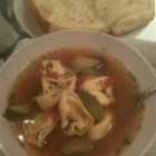 Joe's Mom's Sausage and Tortellini Soup - Spicy and delicious! This is an excellent one dish meal that has always satisfied during the cold winter months. Tastes great on its own or with fresh hot bread and topped with Asiago cheese.