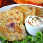 Scottish Bubbles and Squeak Patties - Mashed potatoes, cabbage, carrot and cheese are made into convenient patties and fried. My father in law is from Scotland and this is a favorite family dish.