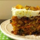 Moist Carrot Cake - This cake was made and brought to me at work. It is the moistest carrot cake I have ever had. Decorate with Cream Cheese Frosting.