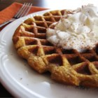 Cinnamon Pumpkin Waffles - Pumpkin pie for breakfast? That's what it's like eating these yummy waffles!