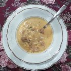 Texas Corn Chowder with Hot Sausage