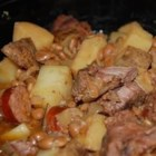 Chuckwagon Stew - Beef cubes and bar-b-que beans combine quickly in this hearty and tasty slow cooked meal. No need to brown the meat makes this extra easy for the working mom. Great with cornbread or brown bread and a cold beer.