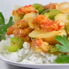 Cajun Crawfish and Shrimp Etouffe - An authentic Louisiana recipe with a rich and spicy fresh tomato based roux with fresh garlic, bell peppers, celery and onions mixed with crawfish and shrimp.  A little time consuming but well worth it!! Serve over steamed rice with hushpuppies and/or crackers on the side.