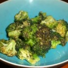 Baked Broccoli - Broccoli is caramelized in a rich brown sugar and olive oil mixture seasoned with a bit of cayenne pepper and lemon juice.