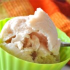 Cinnamon Pear Frozen Yogurt - Frozen yogurt made with pears and spiced with cinnamon and allspice.