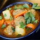 Albondigas - This is a quick and easy recipe that tastes delicious. Carrots and potatoes, with salsa and meatballs, makes for a hearty, delicious soup that can be prepared in no time at all.