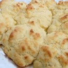 Buttered Biscuits - Buttermilk, self-rising flour, and butter team up in these easy drop biscuits. They're best enjoyed warm out of the oven.