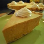 Pumpkin Bavarian Cream Tart - A delicately spiced pumpkin mousse is stabilized with gelatin in a prebaked pie crust or tart shell in this lovely fall and winter dessert.