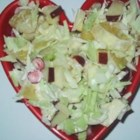 Cranberry Coleslaw - Sweet-tart and crunchy, this unusual slaw is enlivened by a combination of cabbage, sugared cranberries and thin orange slices.