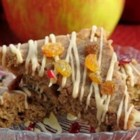 Apple Butter Bars - These bar cookies are made moist by using apple butter and feature a simple drizzled icing.