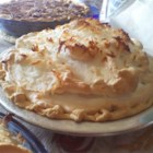 Coconut Marshmallow Cream Meringue Pie - There are lots of cream, eggs, coconut, and melted marshmallows in this sinfully rich pie, so don 't be surprised if it disappears quickly. Luckily, this recipe yields two pies!
