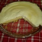 Cream Cheese Pie -  This is a classic baked cream cheese pie made with a sweetened sour cream topping and a hint of vanilla. And of course, it 's served in a graham cracker crust.