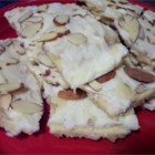 Easy Toffee - Saltines are topped with a sweet brown sugar syrup, baked, then smothered in chocolate in this easy toffee.