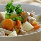Hearty Turkey Stew with Vegetables - Turkey breast meat and fresh vegetables are cooked up into a hearty stew that may be enjoyed any time of year.