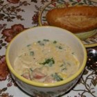 Cajun Potato Soup - This is a hearty and rich potato soup with cream, spinach, and spicy andouille sausage.