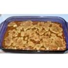 Pumpkin Crumb Cake - A boxed yellow cake mix is used to create a short crust and crumble topping for this cake with a pumpkin custard filling.