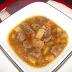 Beef Stew II - This beef stew made with carrots and celery is seasoned with paprika, cloves, black pepper and Worcestershire sauce.