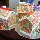 Children's Gingerbread House - This is one my mum in England used to make when we were kids.  It was always the biggest hit every year.  Use your imagination and a variety of candies to make doors, windows, pathways, and a garden.  Note, this gingerbread house takes 2 to 3 days to complete. You can buy a variety of candies for decoration.