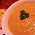 Pumpkin, Sweet Potato, and Leek Soup - A comforting cold-weather soup puree.