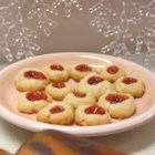 Filled Apricot Cookies - This is an excellent apricot cookie recipe and it only has 3 ingredients besides the apricot preserves. It has a light flaky dough and isn't too sweet.