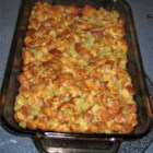 Grandma Winnie's Turkey Stuffing - This recipe for bread stuffing calls for canned mushrooms, onion, celery, and poultry seasoning.  It will make enough to stuff a 12 to 15 pound turkey.