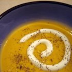 Butternut Squash Soup with a Kick - Fresh ginger and jalapeno pepper spice up this silky soup. Sour cream and fresh thyme cool it down.