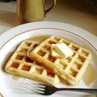 Yeast Waffles - These tender and crunchy yeasted waffles are mixed the night before and then rise overnight.