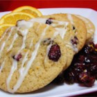 Orange Cranberry Drops - A delicious orange cookie with dried cranberries. Beautiful and tasty!