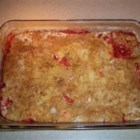 Aunt Kaye's Rhubarb Dump Cake - My Aunt Kaye would make this every summer. It smells so good when it is cooking. She also use many different combinations of fresh fruit and flavored gelatin. Be creative and try it out.