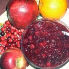 Cranberry Pomegranate Sauce - This is a delicious fruit-filled version of cranberry sauce.  The pomegranate is cooked separately to facilitate seed removal, then both parts are combined to finish cooking. It's wonderful as an accompaniment for poultry, and can be made into a lovely trifle-type dessert with vanilla pudding and pound cake.