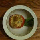 Goat Cheese Stuffed Tomatoes - A quick yet very fresh stuffed tomato bursting with summer flavors.