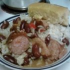 Richard and Suzanne's Famous Red Beans and Sausage - This recipe for red beans with sausage goes great served over white rice and a side of corn bread.